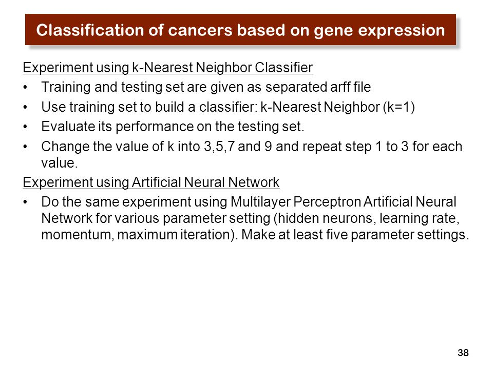 Classification of cancers based on gene expression