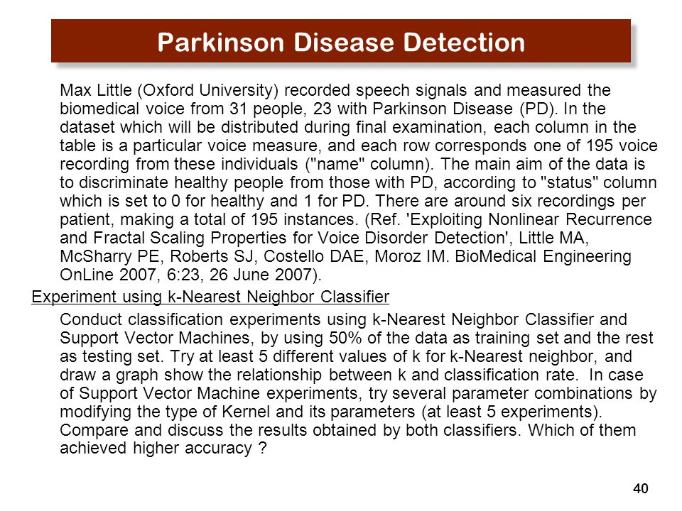 Parkinson Disease Detection