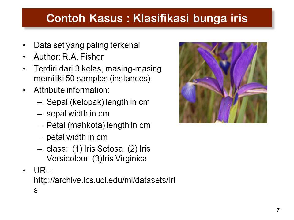 Contoh Kasus : Klasifikasi bunga iris