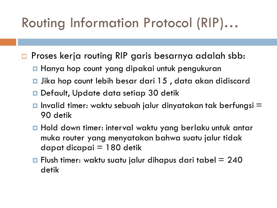 Routing Information Protocol (RIP)…