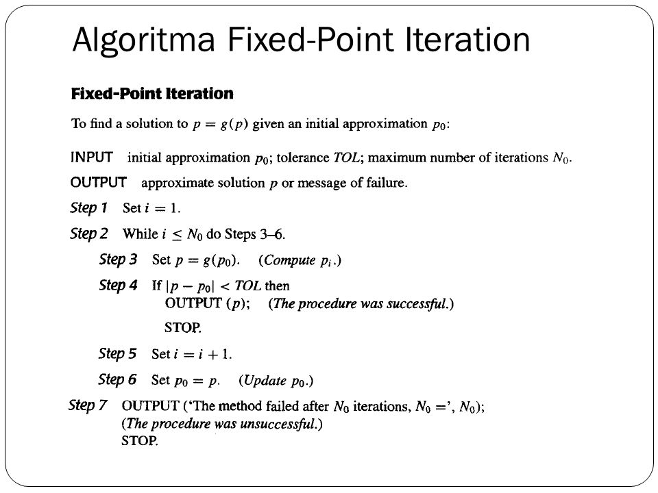Algoritma Fixed-Point Iteration