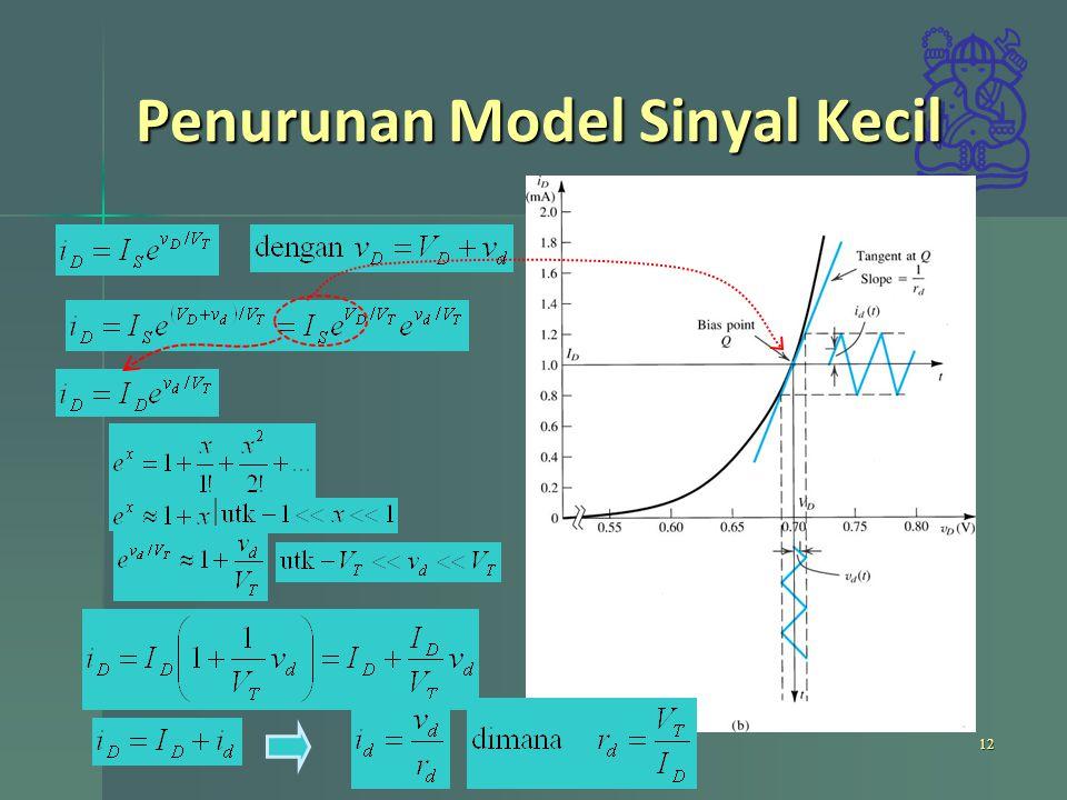Penurunan Model Sinyal Kecil