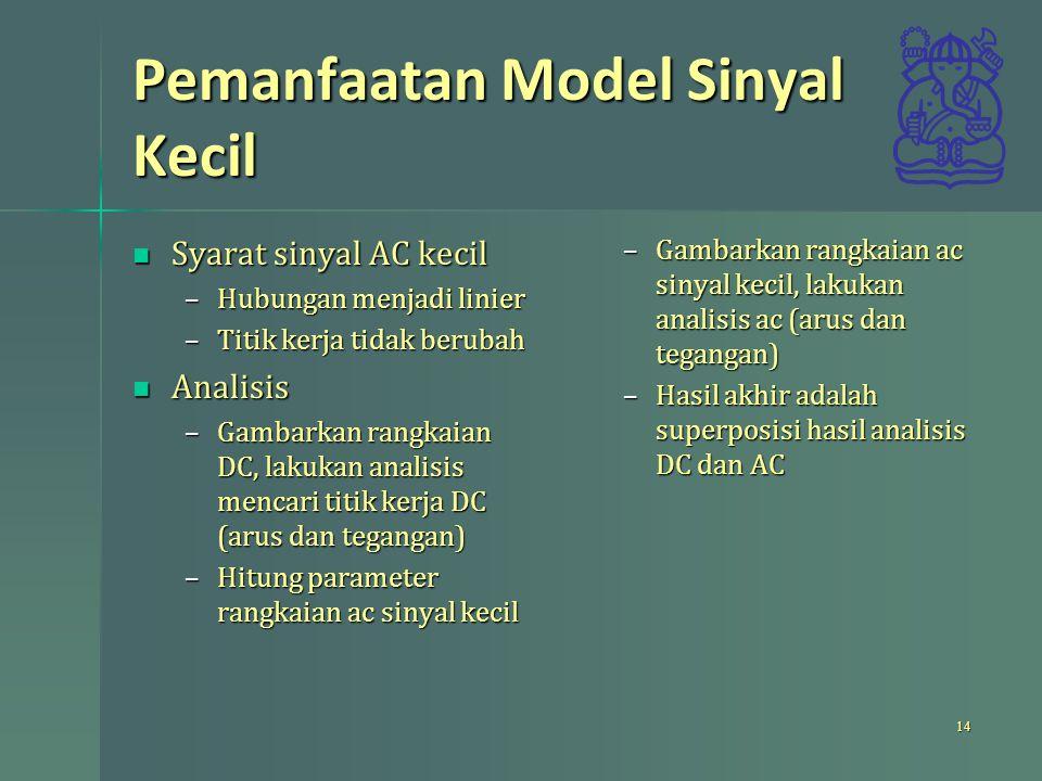 Pemanfaatan Model Sinyal Kecil