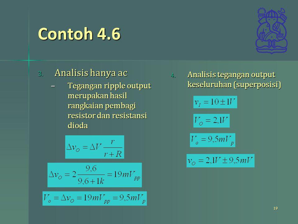 Contoh 4.6 Analisis hanya ac