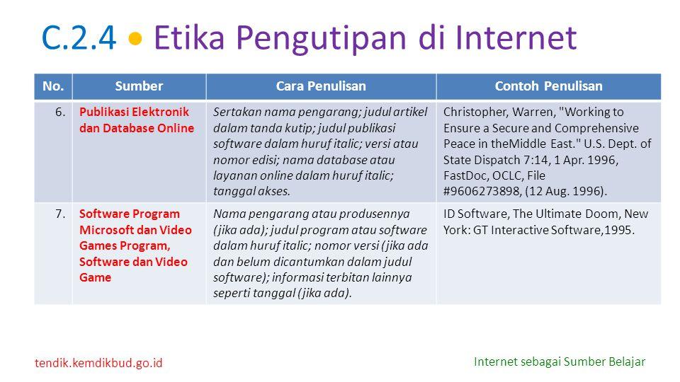 C.2.4  Etika Pengutipan di Internet