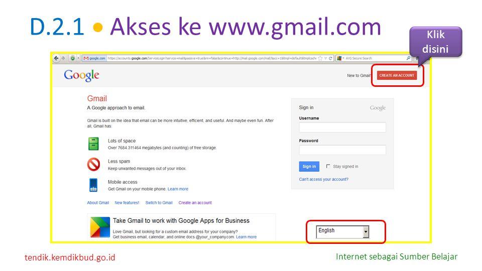 D.2.1  Akses ke www.gmail.com