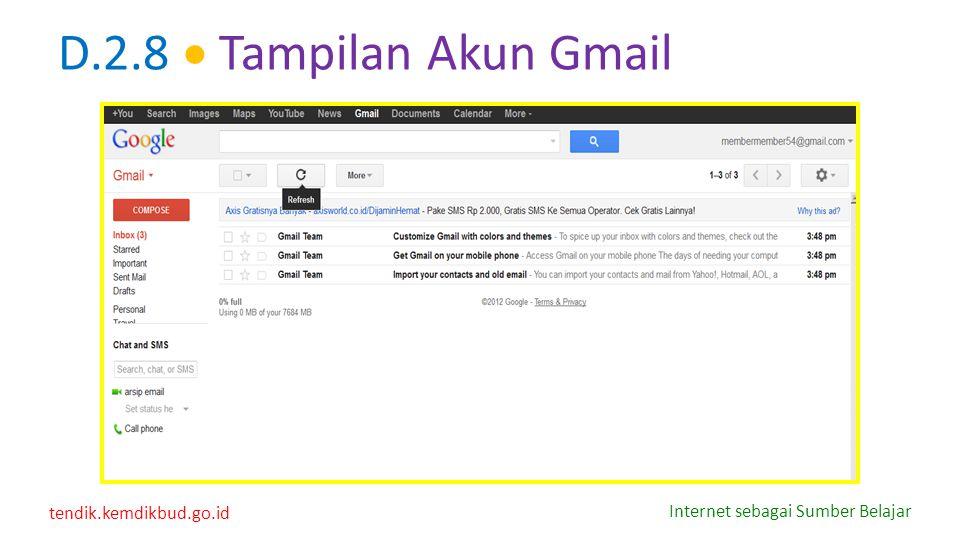 D.2.8  Tampilan Akun Gmail