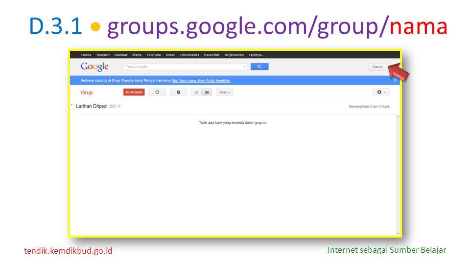 D.3.1  groups.google.com/group/nama