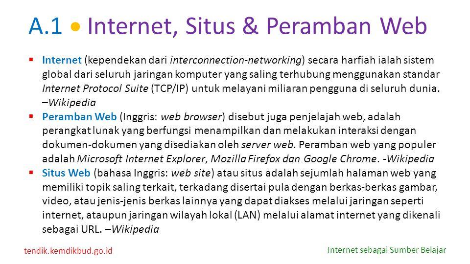 A.1  Internet, Situs & Peramban Web
