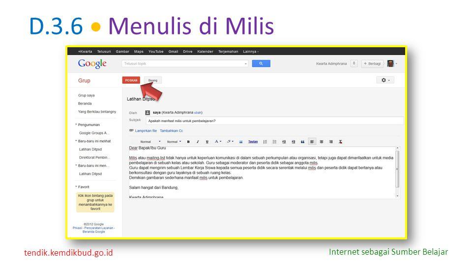 D.3.6  Menulis di Milis