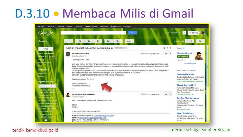 D.3.10  Membaca Milis di Gmail