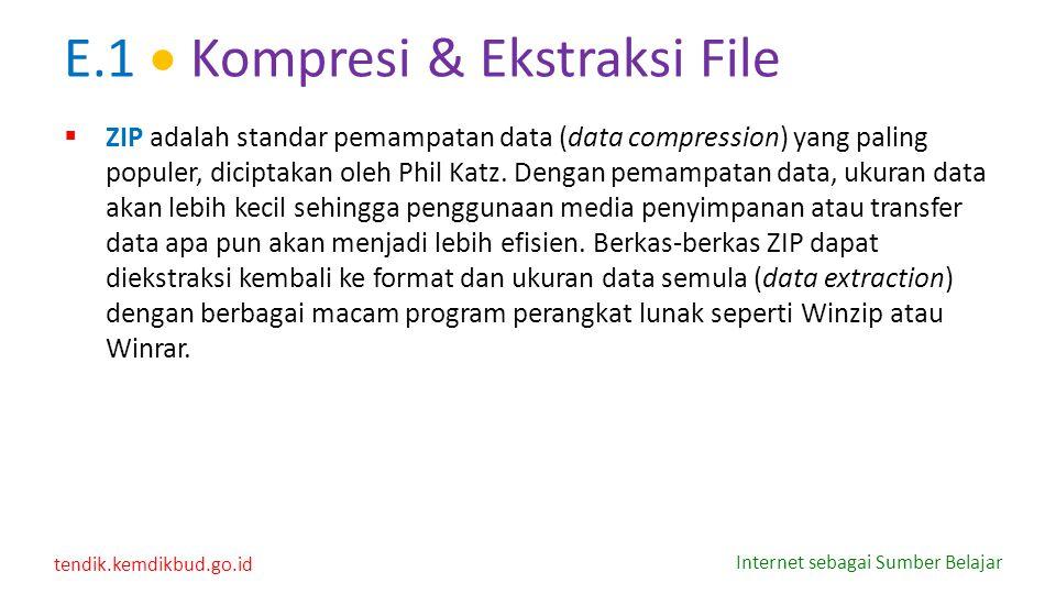 E.1  Kompresi & Ekstraksi File