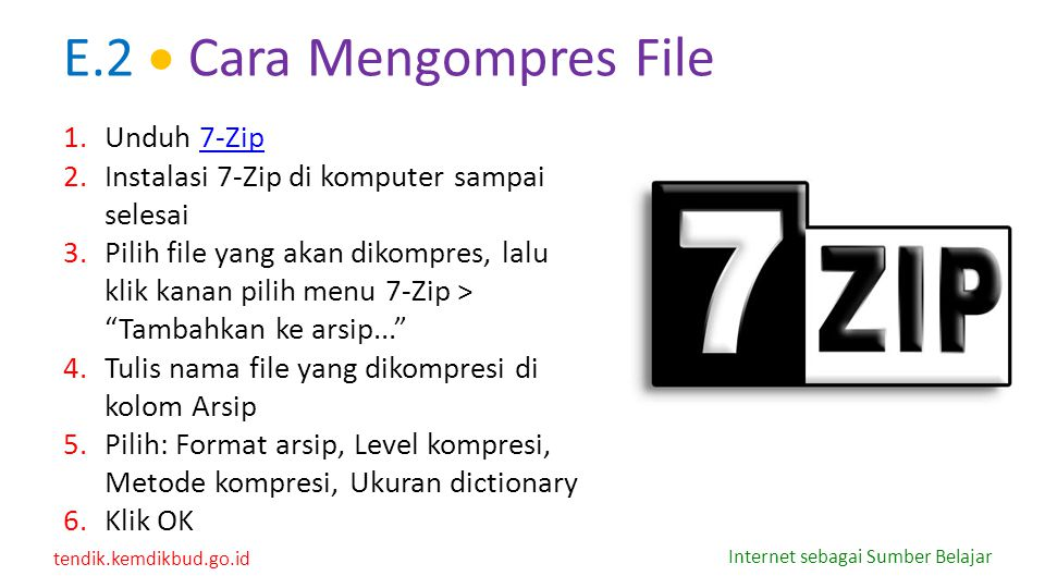 E.2  Cara Mengompres File