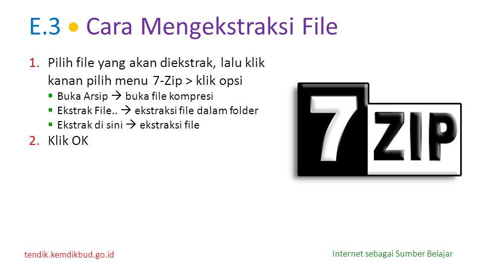 E.3  Cara Mengekstraksi File