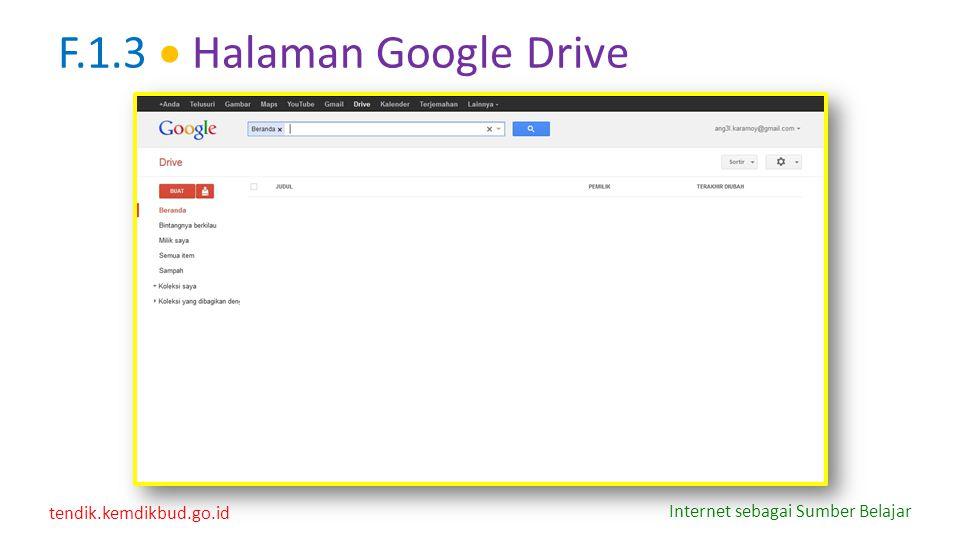 F.1.3  Halaman Google Drive