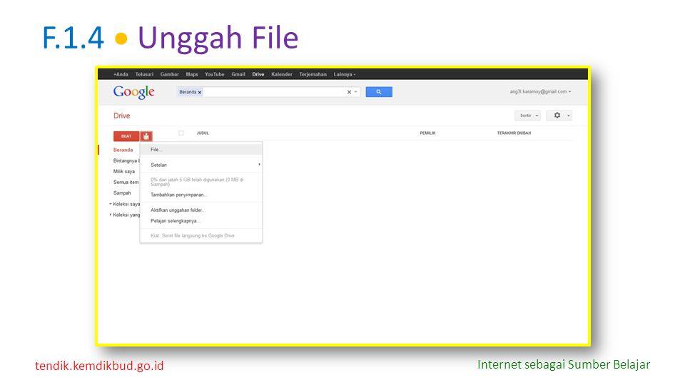 F.1.4  Unggah File