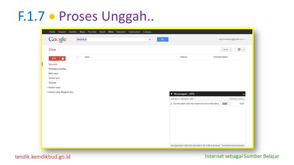 F.1.7  Proses Unggah..