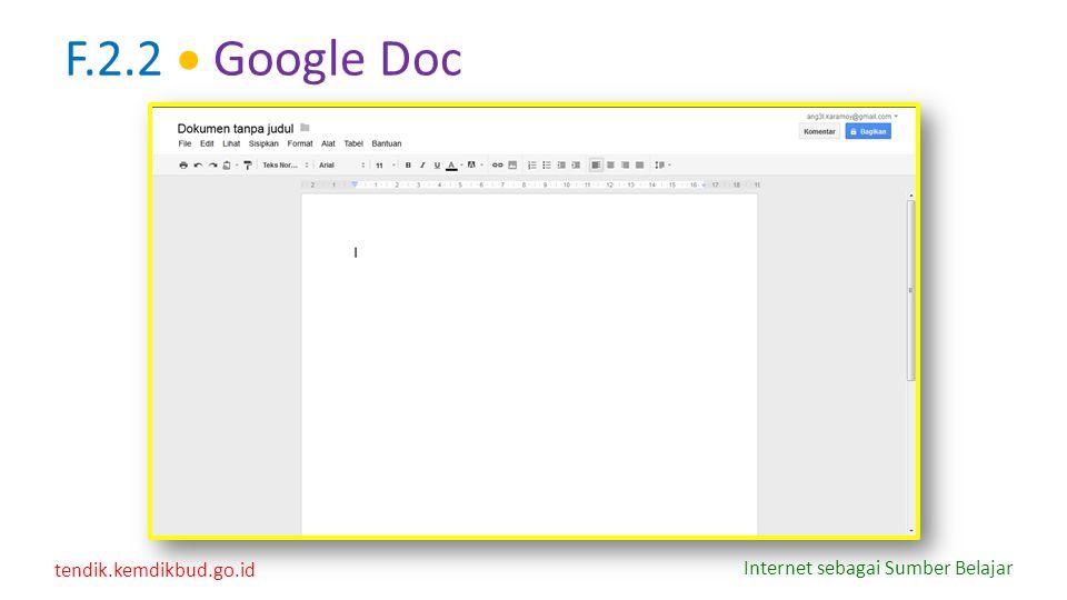F.2.2  Google Doc