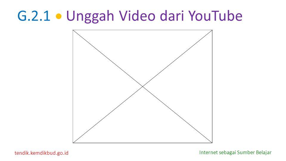 G.2.1  Unggah Video dari YouTube