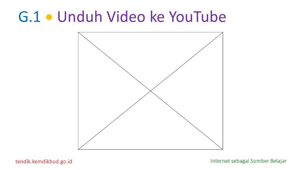 G.1  Unduh Video ke YouTube