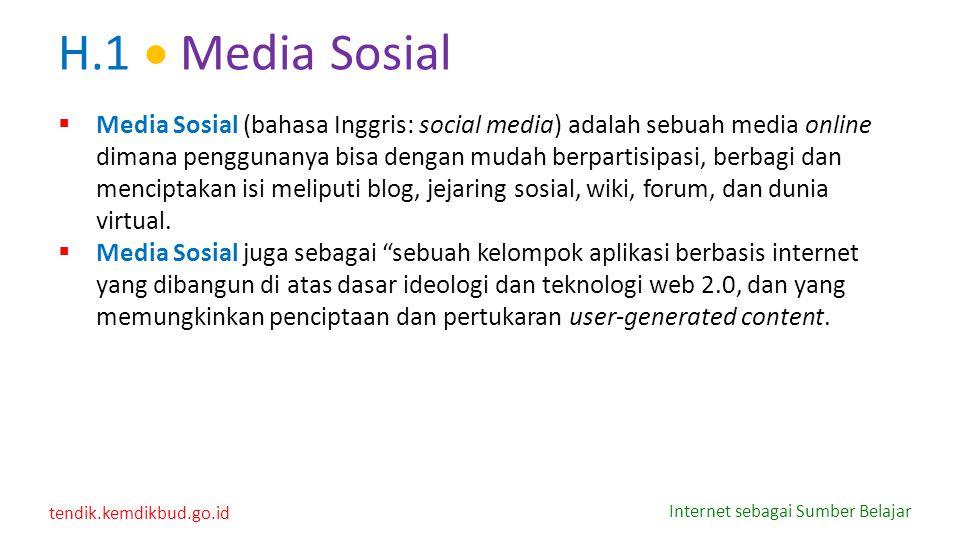 H.1  Media Sosial