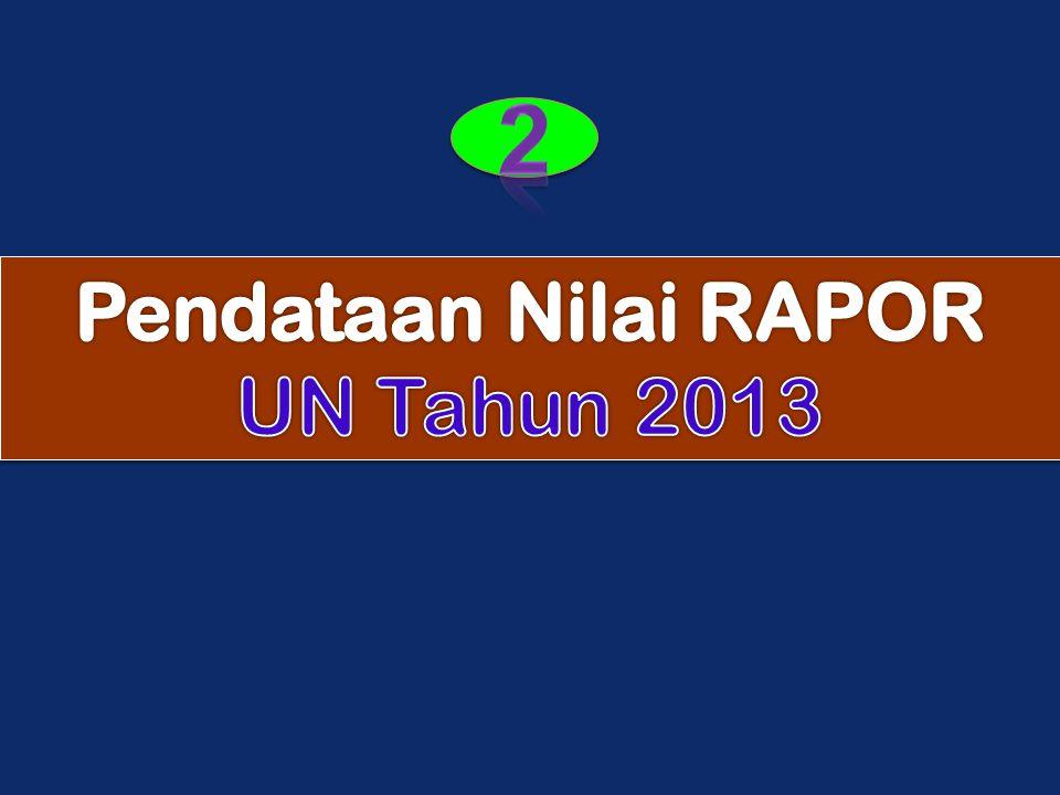 2 Pendataan Nilai RAPOR UN Tahun 2013