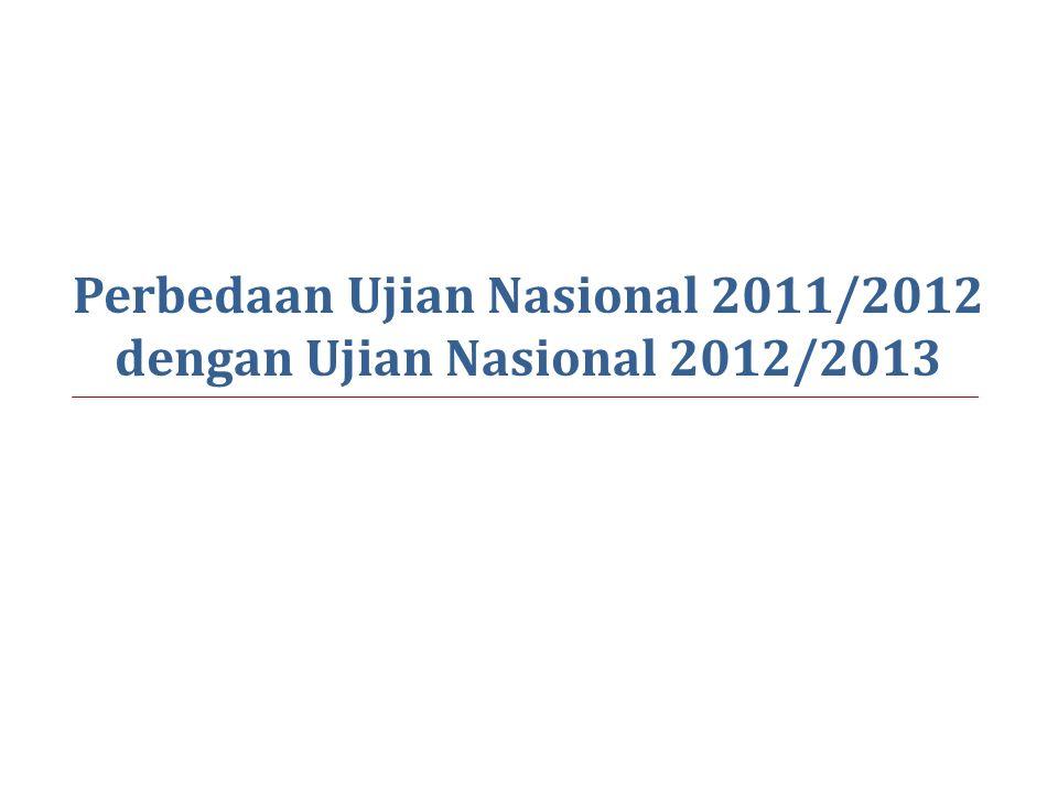 Perbedaan Ujian Nasional 2011/2012 dengan Ujian Nasional 2012/2013