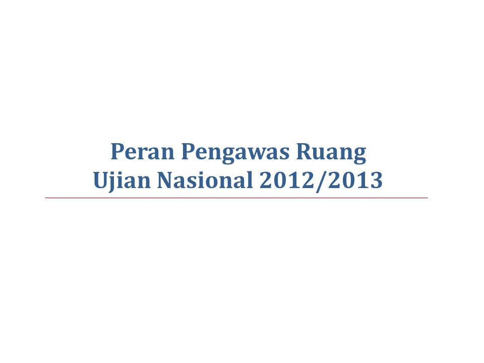 Peran Pengawas Ruang Ujian Nasional 2012/2013
