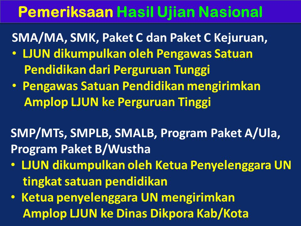 Pemeriksaan Hasil Ujian Nasional