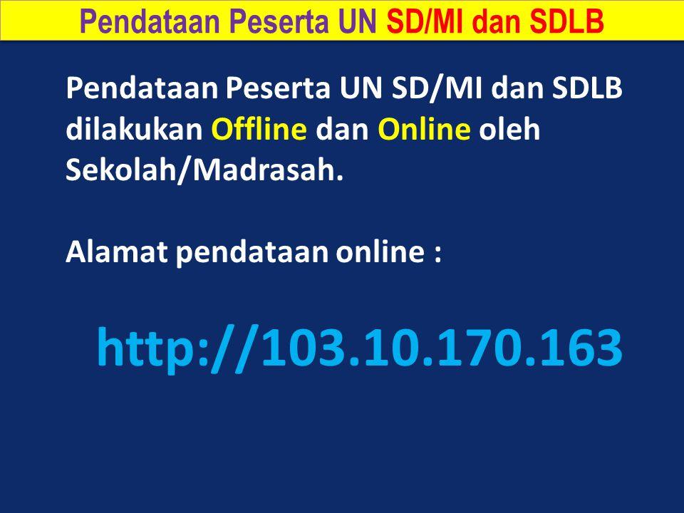 Pendataan Peserta UN SD/MI dan SDLB