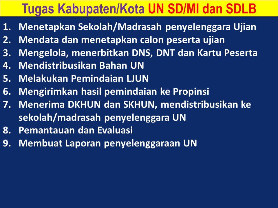 Tugas Kabupaten/Kota UN SD/MI dan SDLB