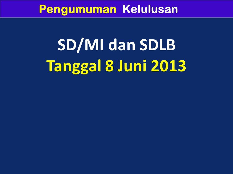 SD/MI dan SDLB Tanggal 8 Juni 2013