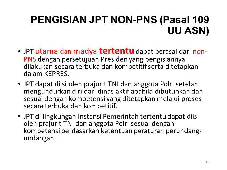 PENGISIAN JPT NON-PNS (Pasal 109 UU ASN)