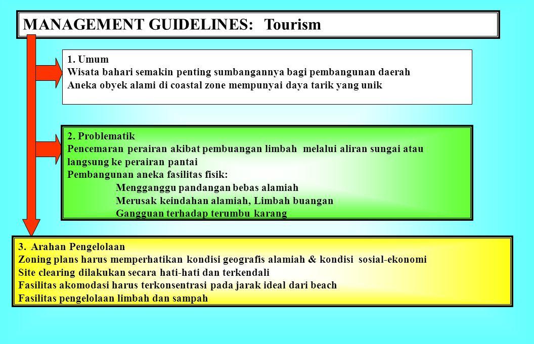 MANAGEMENT GUIDELINES: Tourism