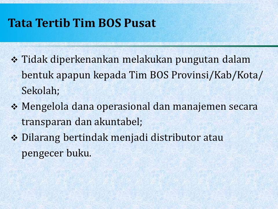 Tata Tertib Tim BOS Pusat