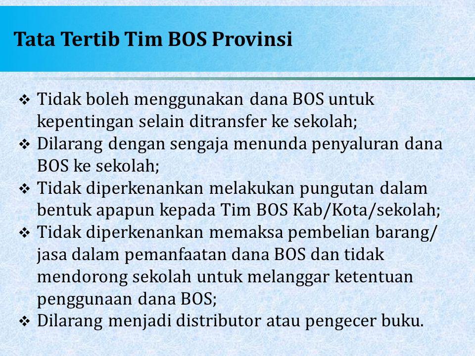 Tata Tertib Tim BOS Provinsi