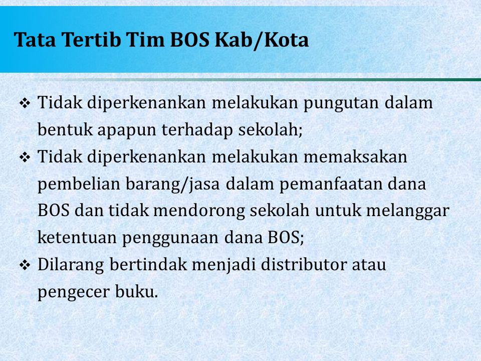 Tata Tertib Tim BOS Kab/Kota