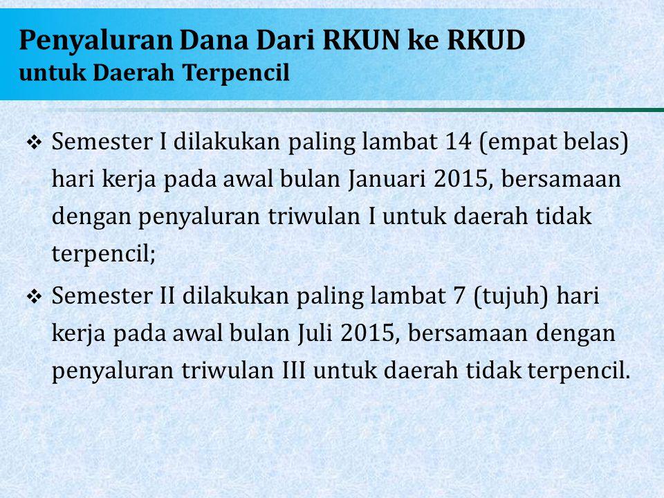 Penyaluran Dana Dari RKUN ke RKUD untuk Daerah Terpencil