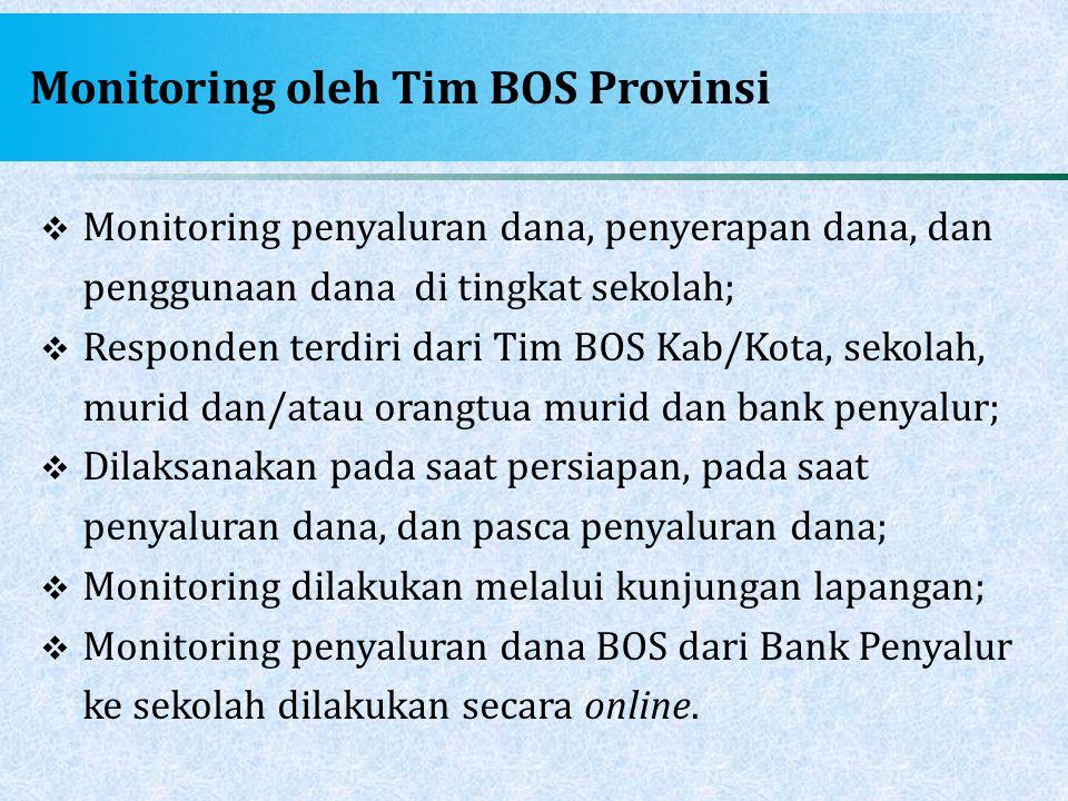 Monitoring oleh Tim BOS Provinsi