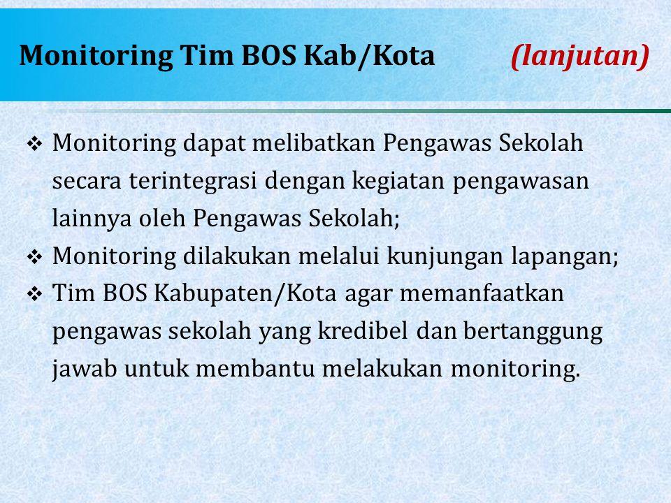 Monitoring Tim BOS Kab/Kota (lanjutan)