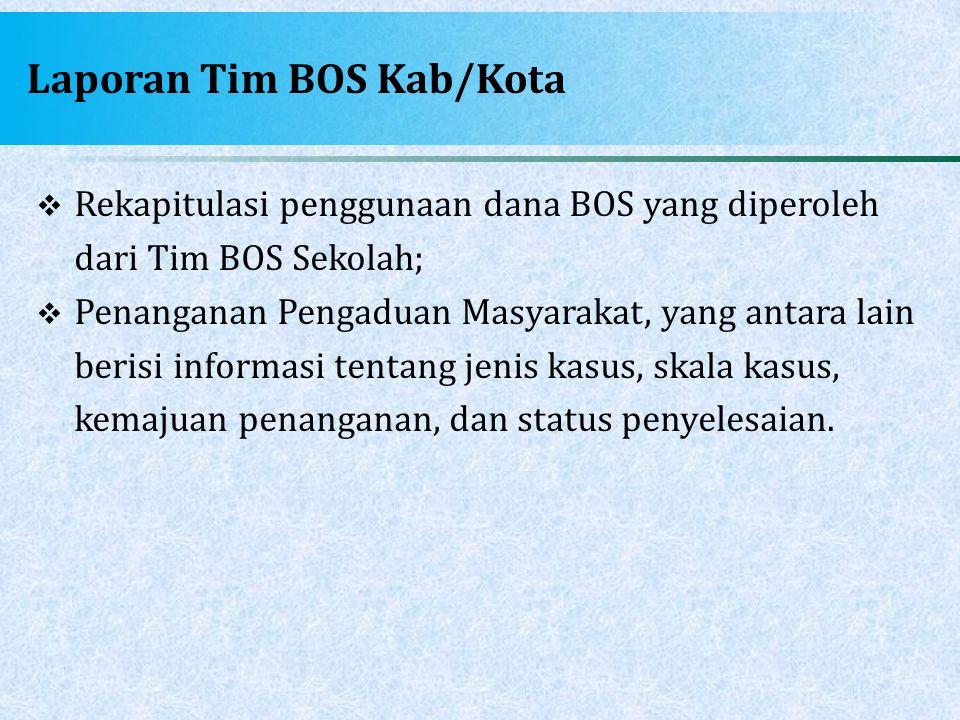 Laporan Tim BOS Kab/Kota