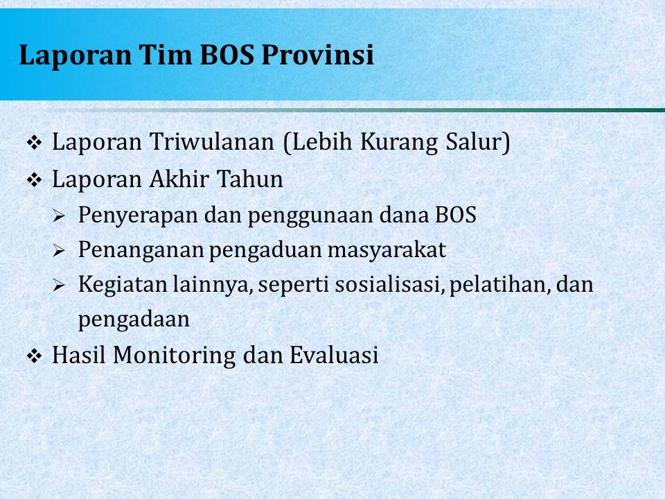 Laporan Tim BOS Provinsi