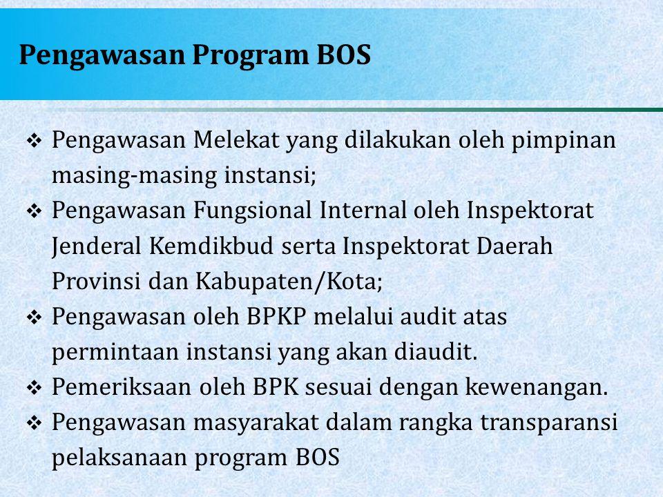 Pengawasan Program BOS