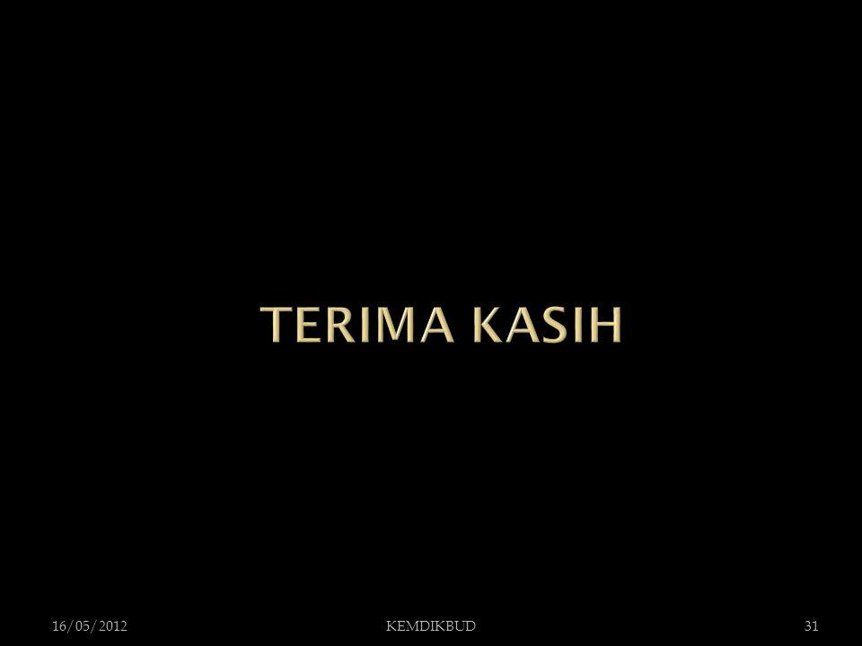 TERIMA KASIH 16/05/2012 KEMDIKBUD