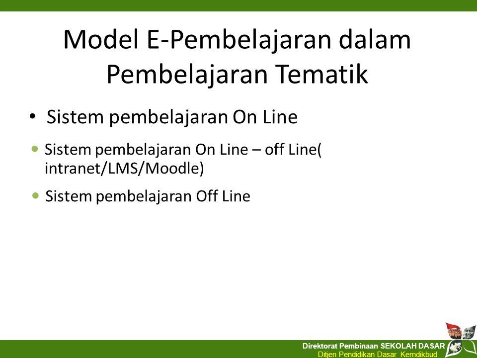Model E-Pembelajaran dalam Pembelajaran Tematik