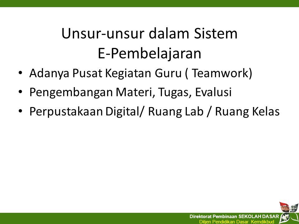 Unsur-unsur dalam Sistem E-Pembelajaran