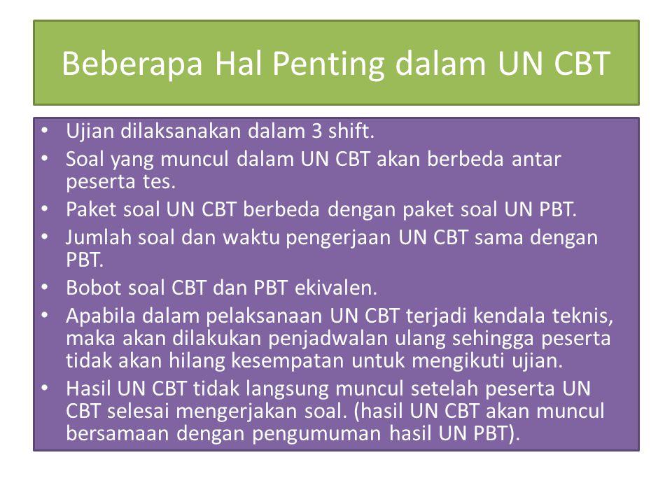 Beberapa Hal Penting dalam UN CBT
