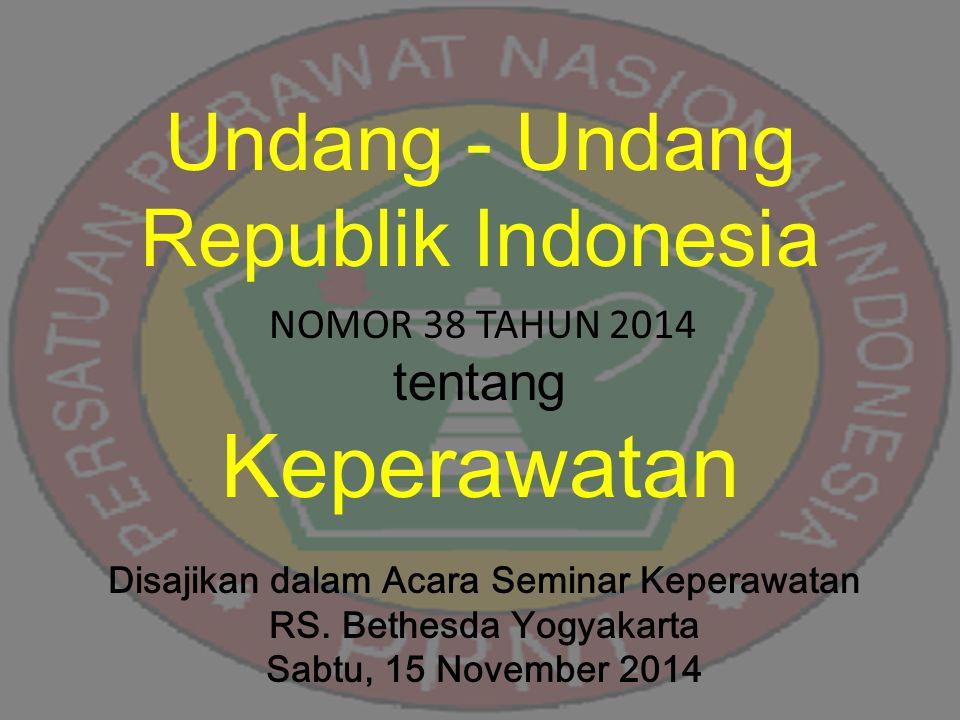 Disajikan dalam Acara Seminar Keperawatan RS. Bethesda Yogyakarta