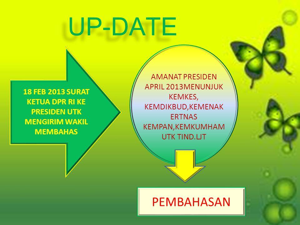 18 FEB 2013 SURAT KETUA DPR RI KE PRESIDEN UTK MENGIRIM WAKIL MEMBAHAS