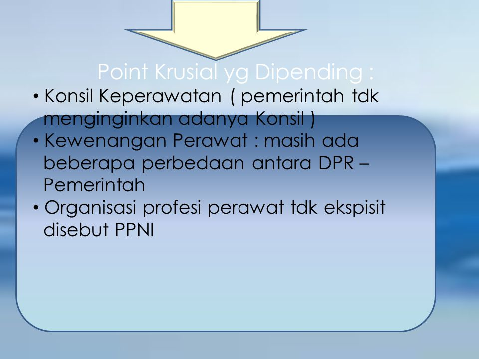 Point Krusial yg Dipending :